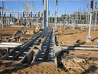 Work done at the Gribovo substation (750 kV)